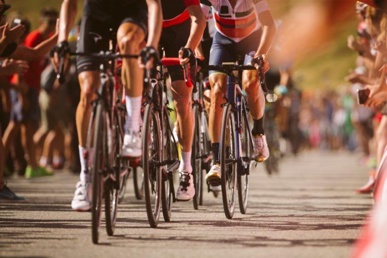 Cyclists on a marathon
