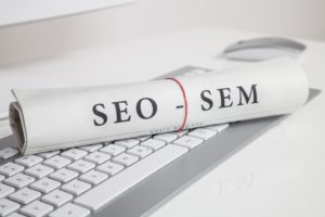SEO and SEM on rolled paper