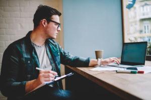 employee studying